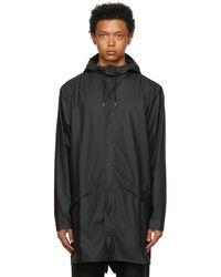 Rains ブラック ロング ジャケット