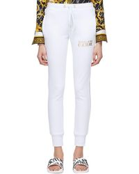 Versace Jeans Couture ホワイト ロゴ ラウンジ パンツ