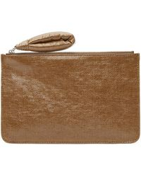 Lemaire Brown A5 Folder Pouch