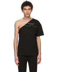 Raf Simons - Black Asymmetric Joy Division T-shirt - Lyst