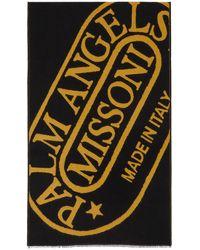Palm Angels Missoni エディション ブラック & イエロー Heritage マフラー