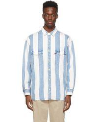 Levi's - ブルー & ホワイト ストライプ オーバーサイズ Barstow デニム シャツ - Lyst