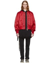 Unravel | Red Explicit Chop Over Bomber Jacket | Lyst