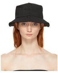 RE/DONE Black Originals Logo Bucket Hat