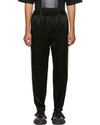 Song For The Mute - Black Baggy Side Tape Lounge Trousers - Lyst
