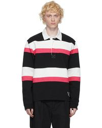Valentino - ブラック & ピンク Jelly ブロック ロング スリーブ ポロシャツ - Lyst