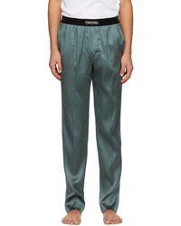 Tom Ford Grey Silk Pyjama Trousers