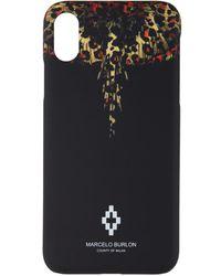 Marcelo Burlon ブラック レオパード ウィング Iphone X ケース