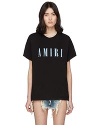 Amiri ブラック ロゴ コア T シャツ