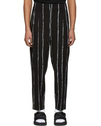 3.1 Phillip Lim - Black Painted Stripes Trousers - Lyst