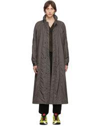 Issey Miyake Gray Micro Taffeta Coat