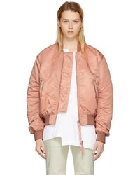 Acne Studios - Pink Clea Bomber Jacket - Lyst
