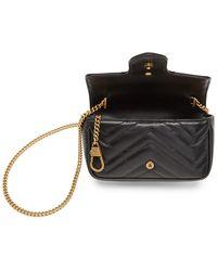 Gucci Sac noir Super Mini GG Marmont