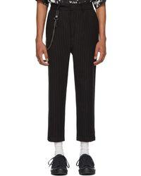 Ksubi - Black Pinstriped Sid Trousers - Lyst