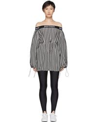 Palm Angels - Black And White Balloon Dress - Lyst
