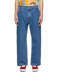 Rassvet (PACCBET) Blue Embroidered Jeans