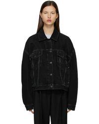 Acne Studios Denim Cropped Jacket - Black