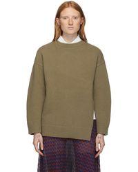 Ports 1961 ブラウン ウール Fully Fashioned セーター - グリーン