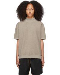 Fear Of God T-shirt beige à assemblage inversé - Neutre