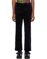 Versace - Navy Corduroy Trousers - Lyst