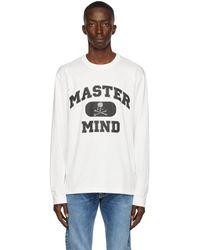 Mastermind Japan ホワイト ロング スリーブ T シャツ