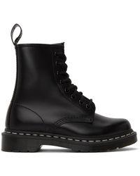 Dr. Martens - ブラック 1460 コントラスト ステッチ ブーツ - Lyst