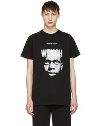 Hood By Air - Black 'wench' Laura Face T-shirt - Lyst