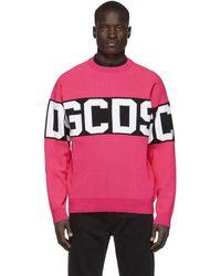 Gcds - ピンク And ブラック ロゴ セーター - Lyst