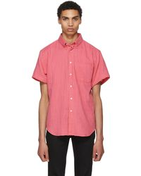 Naked & Famous | Pink Double Weave Gauze Shirt | Lyst