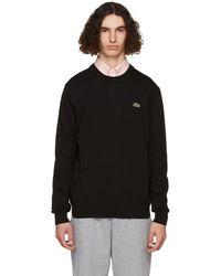 Lacoste ブラック オーガニック コットン スウェットシャツ
