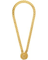 Versace Collier dore Crystal Medusa - Multicolore
