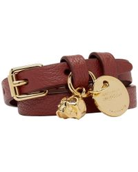 Alexander McQueen - Red And Gold Double Wrap Bracelet - Lyst