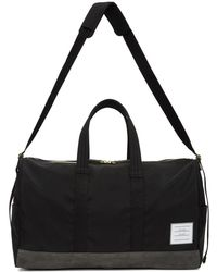 Thom Browne - Black And Grey Unstructured Hold All Bag - Lyst