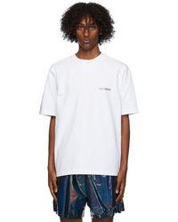 we11done ホワイト メタリック ロゴ T シャツ