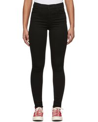 Levi's Black 720 High-rise Super Skinny Jeans