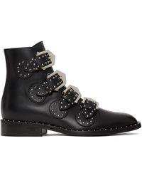 Givenchy ブラック スタッズ エレガント ブーツ