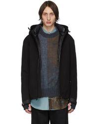 3 MONCLER GRENOBLE Black Down Praz Jacket