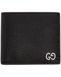 Gucci - Black GG Signature Wallet - Lyst