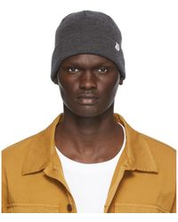 Norse Projects グレー メリノ ウール Norse トップ ビーニー
