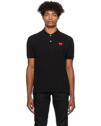 COMME DES GARÇONS PLAY Heart ポロシャツ - ブラック