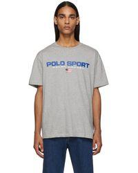 Polo Ralph Lauren グレー アイコン ロゴ T シャツ