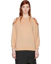 Nina Ricci - Pink Sequin Cut-out Sweatshirt - Lyst