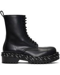 Balenciaga ブラック レース ブーツ