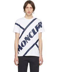 Moncler - ホワイト テニス ロゴ T シャツ - Lyst