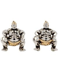 Paul Smith - Silver And Copper Sumo Wrestler Cufflinks - Lyst