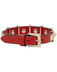 Valentino - Red Garavani Rockstud Hardware Bracelet - Lyst