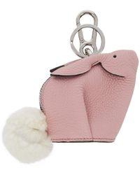 Loewe Pink Bunny Charm Keychain