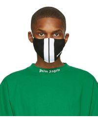 Palm Angels Masque noir et blanc Classic Track - Vert