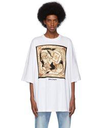 Palm Angels ホワイト フーラード T シャツ