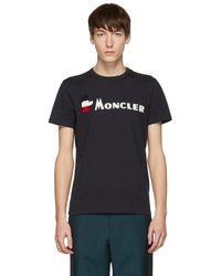 Moncler - ネイビー ロゴ T シャツ - Lyst